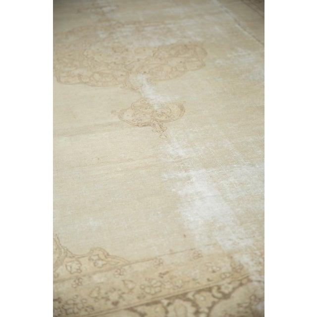 """Textile Vintage Distressed Tabriz Carpet - 9' X 12'9"""" For Sale - Image 7 of 13"""