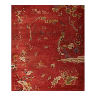 """Antique Chinese, Art Deco Rug 8'2"""" X 9'8"""" For Sale"""