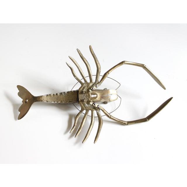 Vintage Mid Century Brass Shrimp Figurine - Image 5 of 5