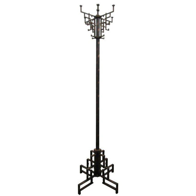 Coppered Steel Coat Tree Stand For Sale In New York - Image 6 of 6