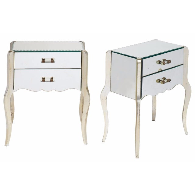 French Art Deco Mirrored Side Tables - A Pair - Image 1 of 10