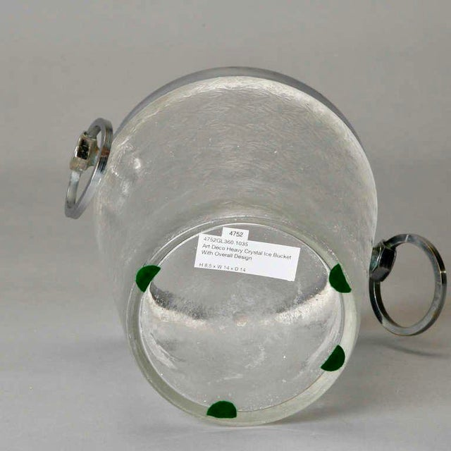 Art Deco Heavy Crystal Ice Bucket For Sale In Detroit - Image 6 of 6