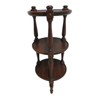 Ethan Allen Old Tavern Pine Muffin Stand Pedestal End Table