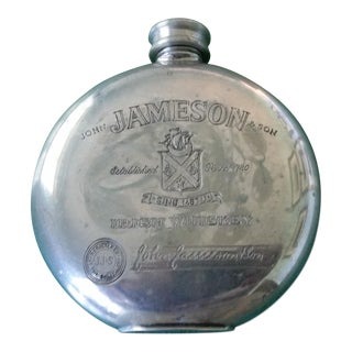 Jameson Nickel Silver Flask For Sale