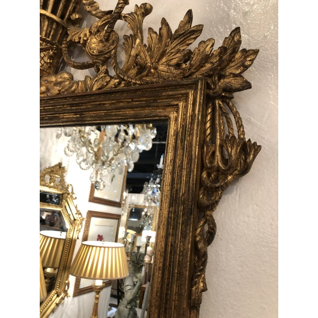 Gilt Mirror With Balloon Basket Frieze For Sale - Image 9 of 13
