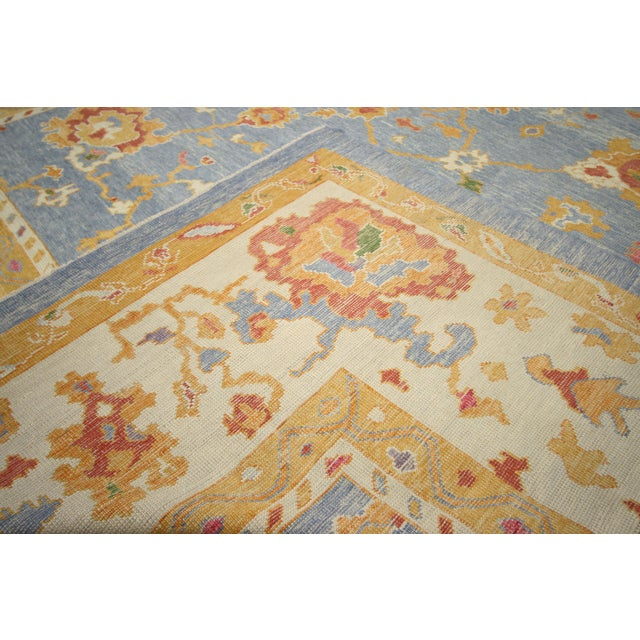Abstract Contemporary Turkish Oushak Rug - 11′10″ × 15′9″ For Sale - Image 3 of 7