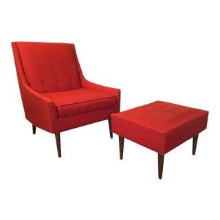 Vintage Selig of Monroe Chair & Ottoman