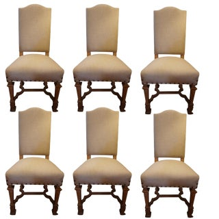 Set of Six French Dining Room Chairs For Sale