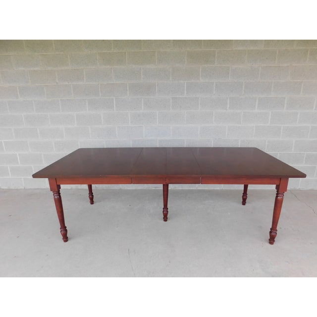 Tom Seely Solid Cherry Country Style Dining Table For Sale - Image 4 of 11