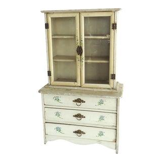 Victorian Antique Miniature China Cabinet