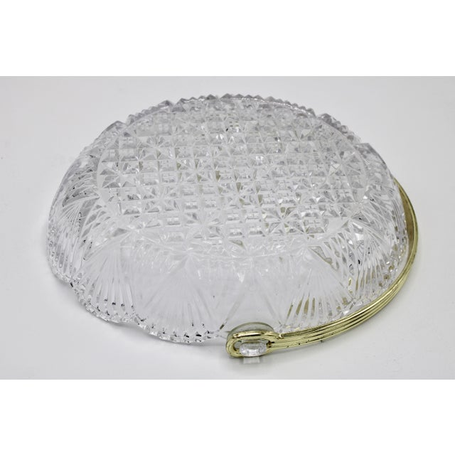 Vintage French Crystal Dish For Sale In Tulsa - Image 6 of 9