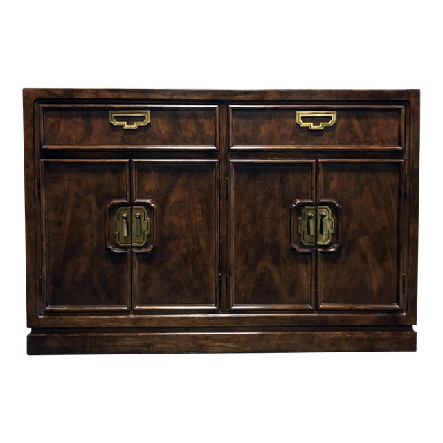 THOMASVILLE Mystique Asian Chinoiserie Buffet Sideboard / Credenza on thomasville coffee tables, thomasville collectors cherry 3 piece, thomasville dining buffet, thomasville cherry buffet,