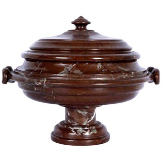 Substantial Grand Tour Carved Marble Covered Urn For Sale