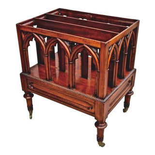 19th Century English Regency Neo Gothic Canterbury For Sale