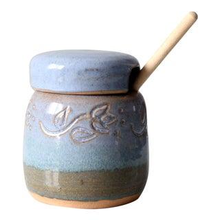 Crisman Studio Pottery Honey Jar Circa 1994 For Sale