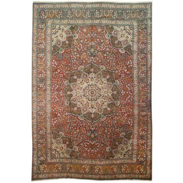 Antique Persian Marand Rug - 11′1″ × 17′1″ For Sale
