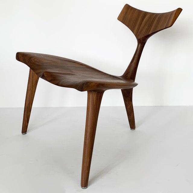 "Sculptural Walnut ""Whale"" Chair Morten Stenbaek For Sale - Image 4 of 13"