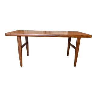 Mid Century Modern Danish Modern Wood Coffee Table For Sale