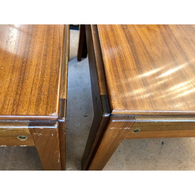 Brown 20th Century Danish Mahogany End Tables - a Pair For Sale - Image 8 of 9