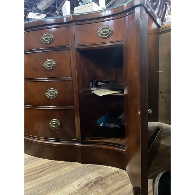 """Brown Mahogany """"Drexel Heritage Credenza For Sale - Image 8 of 9"""