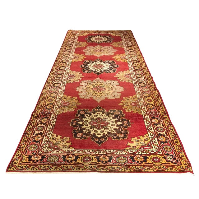 Turkish Oushak Runner - 5' x 13' - Image 1 of 10
