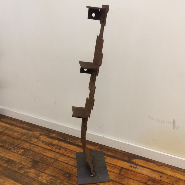 1990s Sculpture - 1990's Abstract Iron Sculpture For Sale - Image 5 of 8