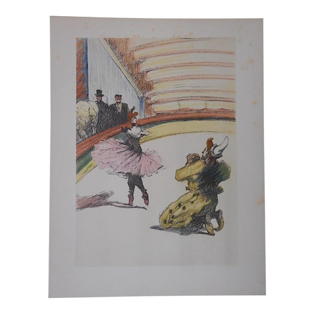 Vintage Toulouse Lautrec Lithograph, The Circus For Sale