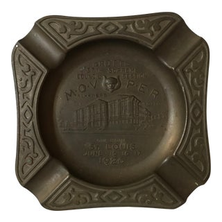 1920's Art Nouveau Copper Masonic Ashtray For Sale