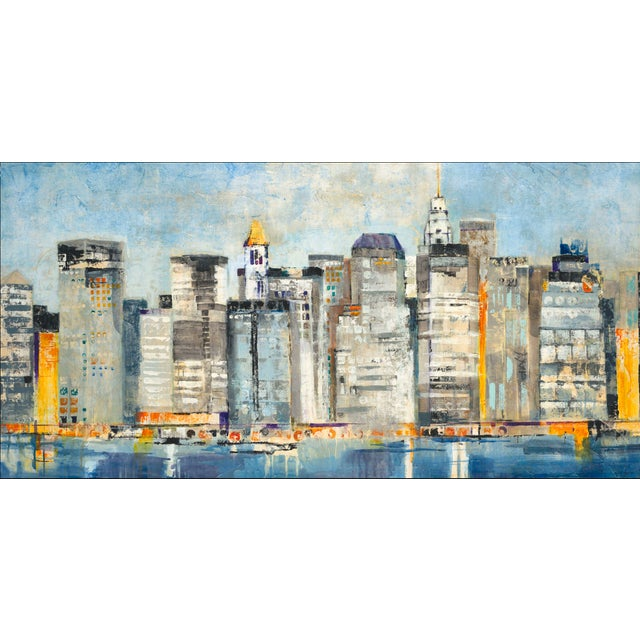 """""""Waterfront Skyline"""" Painting by Jill Martin - Image 2 of 3"""