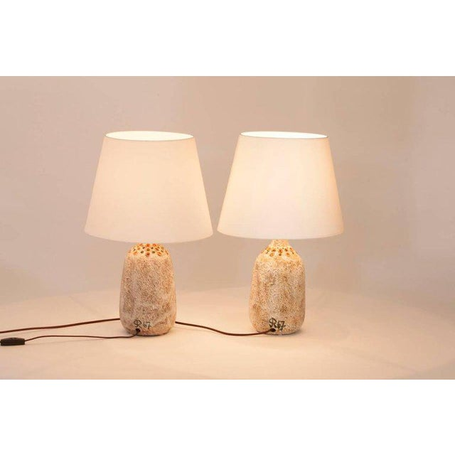 Pair of Mr. and Mrs. Owl Lamps by Raphael Giarusso Signed and Stamped, 1967 - Image 2 of 4
