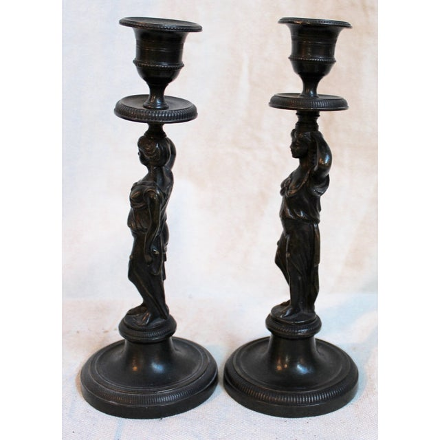 Late 19th Century 19th Century Caryatid Candlesticks - Pair For Sale - Image 5 of 8