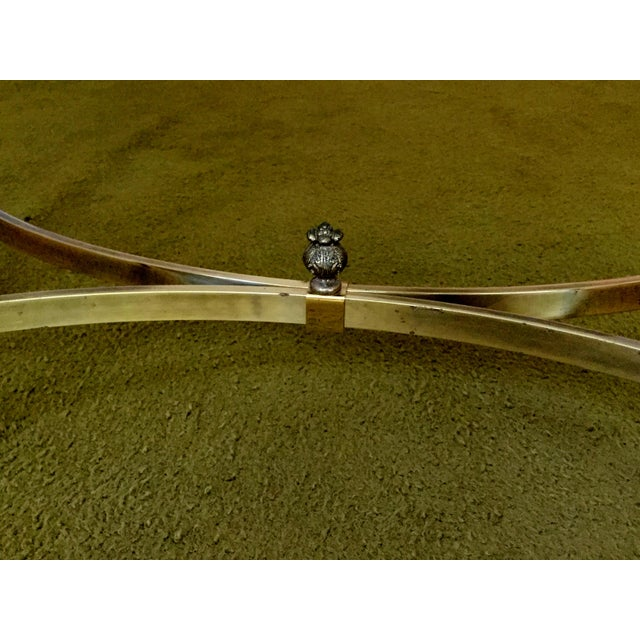 1960s La Barge Hollywood Regency Brass & Clear Glass Coffee Table For Sale - Image 5 of 6
