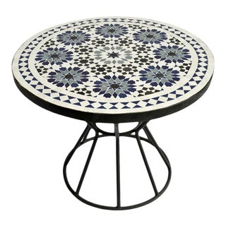"24"" Outdoor Mosaic Round Table For Sale"