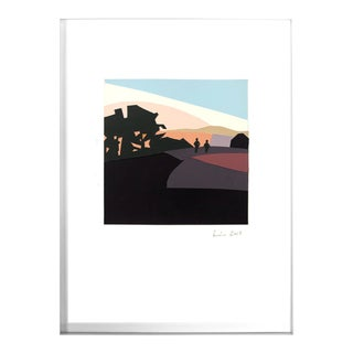 Sunset, Bernal Heights Original Silk Screened Paper Collage