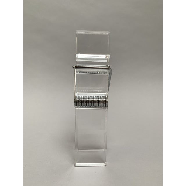 Metal Oversized Lucite Clothespin Paperweight or Paper Holder For Sale - Image 7 of 13