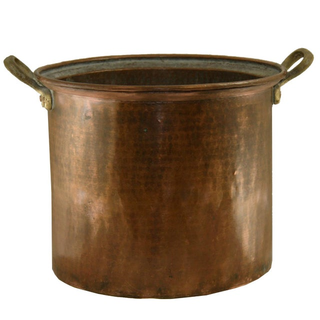 French Hand-Hammered Antique Turkish Copper Boiler For Sale - Image 3 of 3