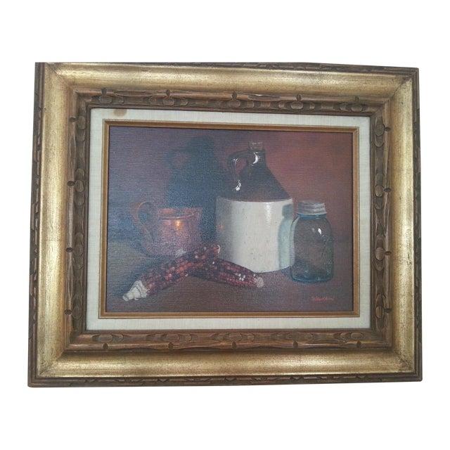 Original Vintage Still Life Painting - Image 1 of 8