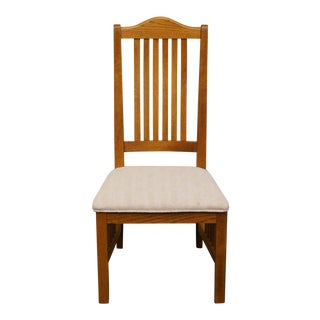 20th Century Mission Richardson Brothers Solid Oak Dining Side Chair For Sale