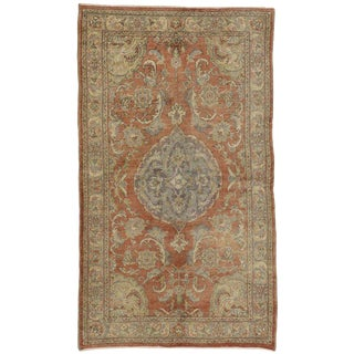 20th Century Turkish Oushak Rug With Romantic French Provincial Style - 5′2″ × 8′10″ For Sale