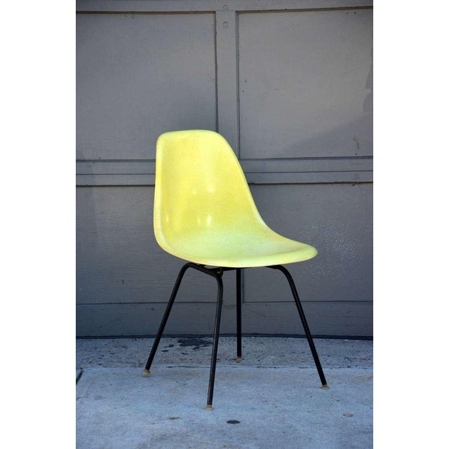 Set of 4 Vintage Eames Chairs by Herman Miller. All original, not a recent edition. Stamped under. Price is for a set of 4.