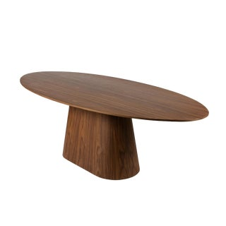 Mid Century Modern Knoll Walnut Elliptical Conference Table For Sale