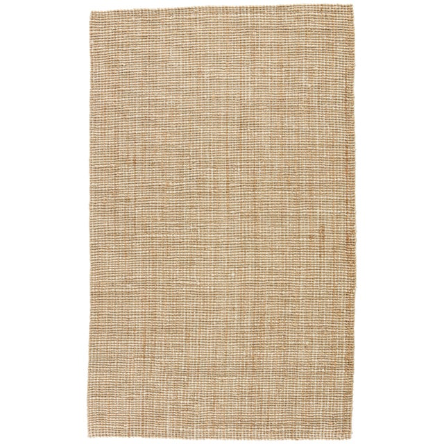 Jaipur Living Mayen Natural Solid Tan/ White Area Rug - 10′ × 14′ For Sale In Atlanta - Image 6 of 6