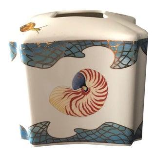 Lynn Chase St. Tropez Gilded Shell Tissue Holder