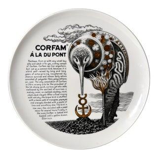 Piero Fornasetti Fleming Joffe Plate -Corfam a La Du Pont For Sale