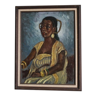 Ben Wilks Painting African American Woman For Sale