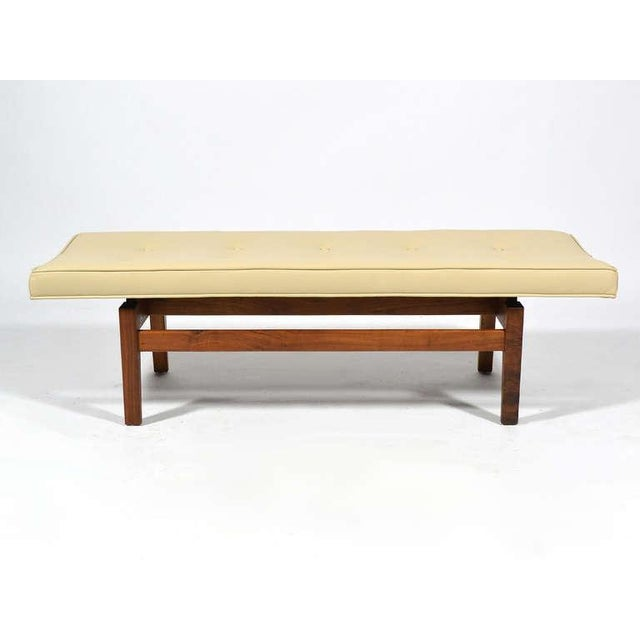 Jens Risom Floating Bench with Leather Seat - Image 4 of 9