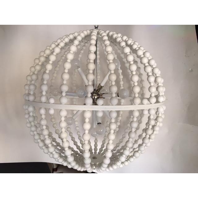 White Circular Modern Chandelier For Sale In West Palm - Image 6 of 6