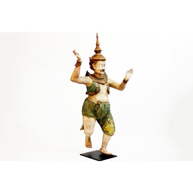 Asian Wooden Burmese Standing Nat Spirit For Sale - Image 3 of 6