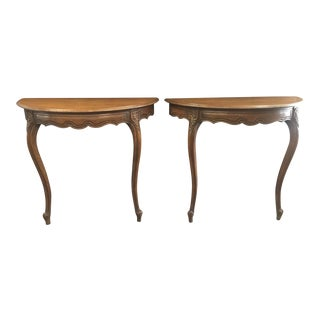 French Provincial Demilume Wall Mount Tables a Pair For Sale