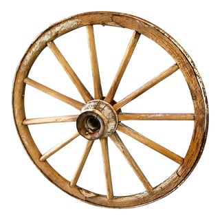 Late 19th Century Wagon Wheel For Sale
